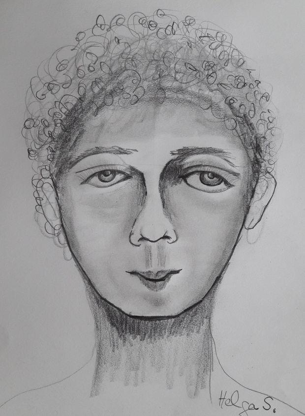 Kopf eines jungen Mannes, 2017